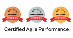 Adopting, Transforming, and Mastering Certification logos