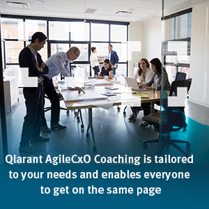 Qlarant AgileCxO Coaching is tailored to your needs and enables everyone to get on the same page