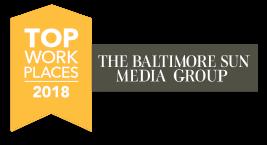 Baltimore Sun Top Work Places 2018 banner