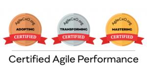 Adopting, Transforming, and Mastering Certification logos