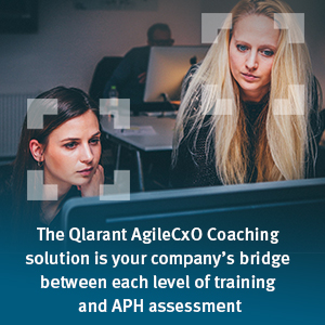 The Qlarant AgileCxO Coaching solution is your company's bridge between each level of training and APH Assessment