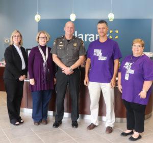 Qlarant Execs with Talbot Goes Purple Representatives
