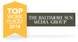 Baltimore Sun Top Work Places 2018 banner