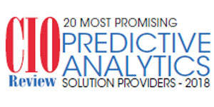 CIO Review logo with 20 most promising predictive analytics solutions providers 2018