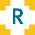 The letter R inside Qlarant's viewfinder logo