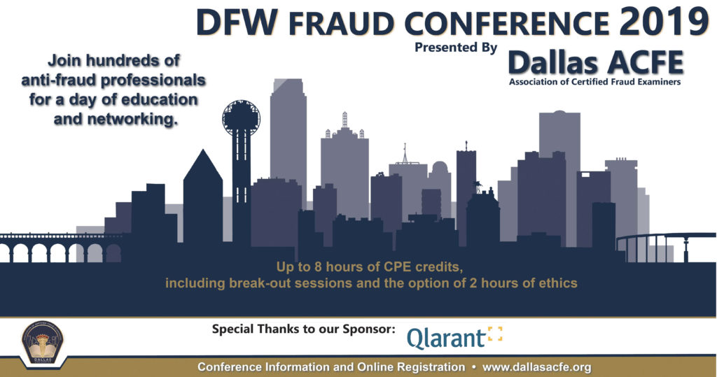 DFW Fraud Conference 2019 Banner