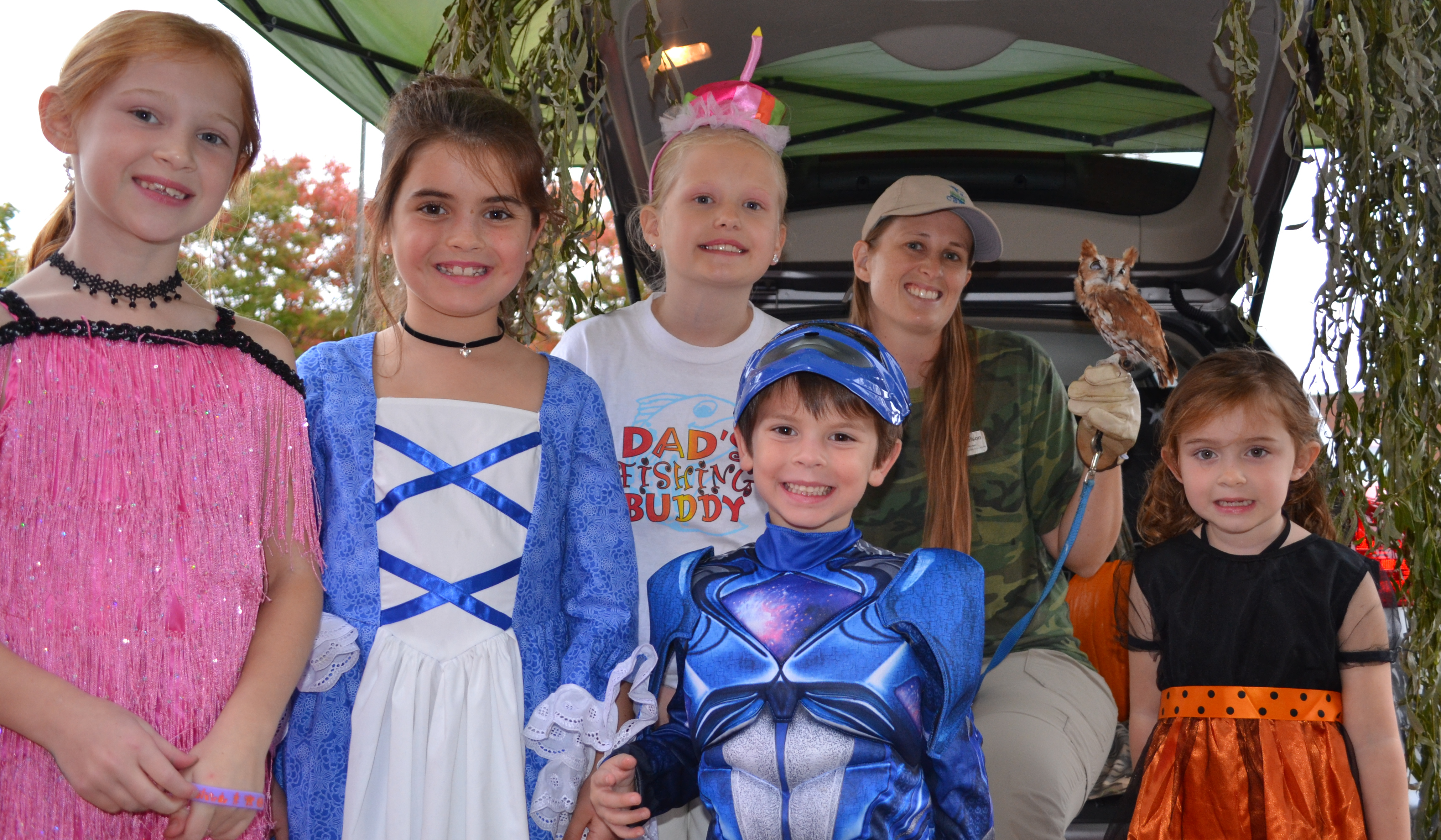 A group of children in costume
