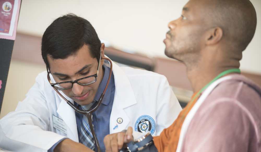 a man getting medical attention