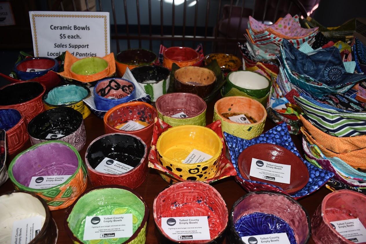 A variety of handmade bowls