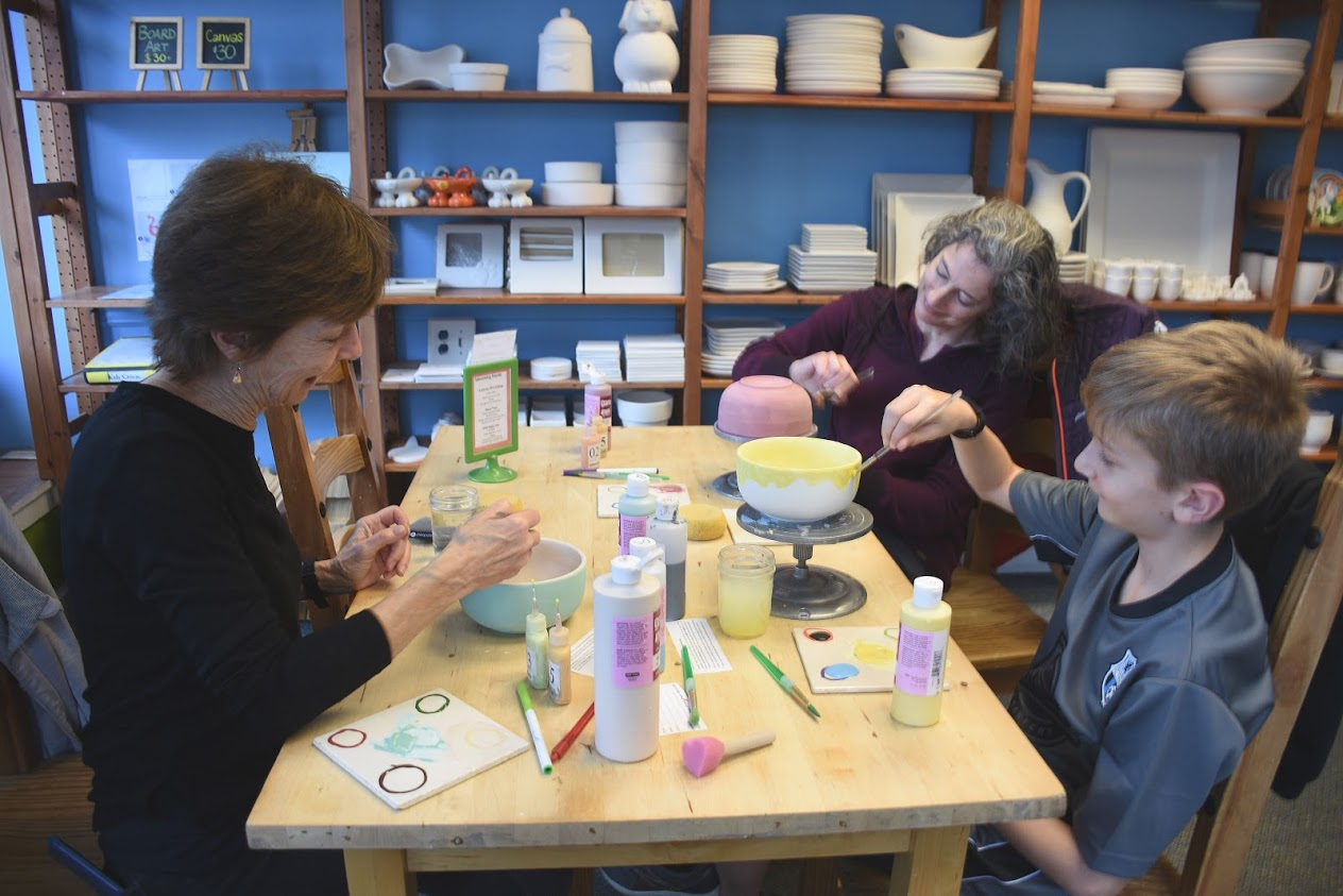bowl painting at Kiln Born