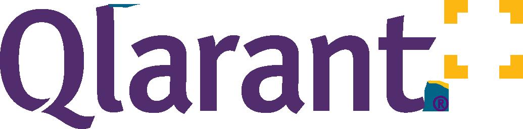 Qlarant logo in purple